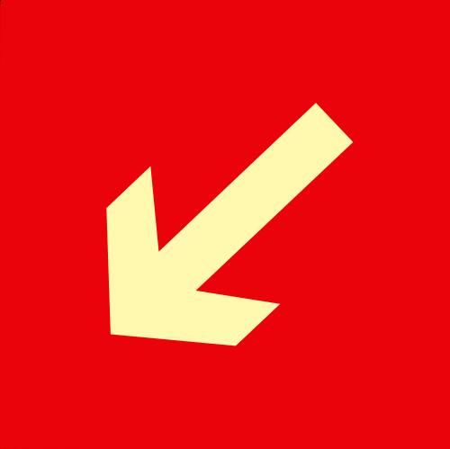 Placas Fotoluminescentes E15; E16 - 21x21cm asd