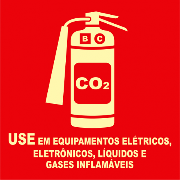 Placas Fotoluminescentes E5 CO2 MOD 2 - 21x21cm