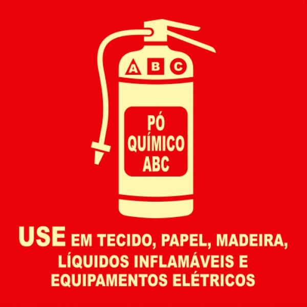 Placas Fotoluminescentes E5 PQS ABC MOD 2 - 21x21cm
