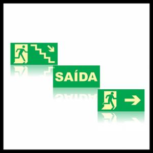 Placas de Saída de Emergência e Rota de Fuga